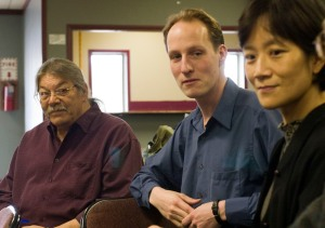 Larry Balber, Christian Schaller and Professor Sunny Kim from SLIS.